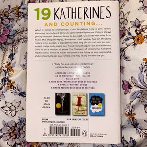 Accents - An Abundance of Katherines Book by John Green